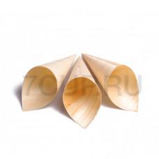 Деревянный рожок из шпона 125 мм (Уп. 50шт)