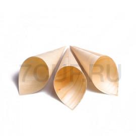 Деревянный рожок из шпона 180 мм (Уп. 100шт)