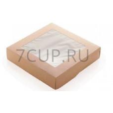 Контейнеры на вынос с окном ECO TABOX 1500 мл (в уп 50 шт)