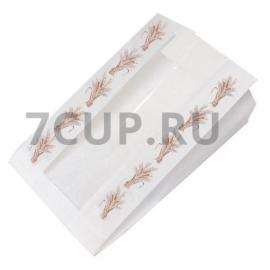Пакет бумажный с окошком 170*245 мм. колоски
