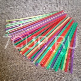 Трубочки (соломинки) гофра разноцветные №1 (Уп. 250 шт)