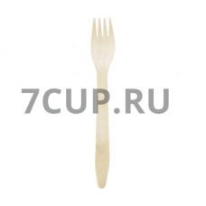 Вилка деревянная 160 мм  (Уп. 100 шт)