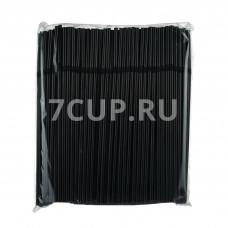 Трубочки (соломинки) гофра черные (Уп. 250 шт)