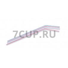 Трубочка полоска с изгибом (200 шт./уп.)