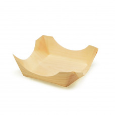 Деревянная тарелка-корзинка 10*3,5 мм  (Уп. 50 шт)