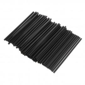Трубочки без изгиба (соломинки) черные (Уп. 250 шт)