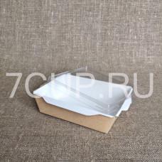 Контейнер картонный с прозрачной крышкой 900 мл (ECO OPSALAD 900)
