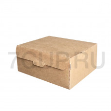 Коробка для пирожных бур/бел, 170*140*75 мм