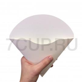 Уголок картонный  белый большой для блинов (Уп. 50шт)