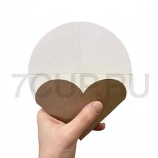 """Уголок картонный """"Сердечко"""" бело-бурый для блинчиков и круглых вафель (Уп. 50шт)"""